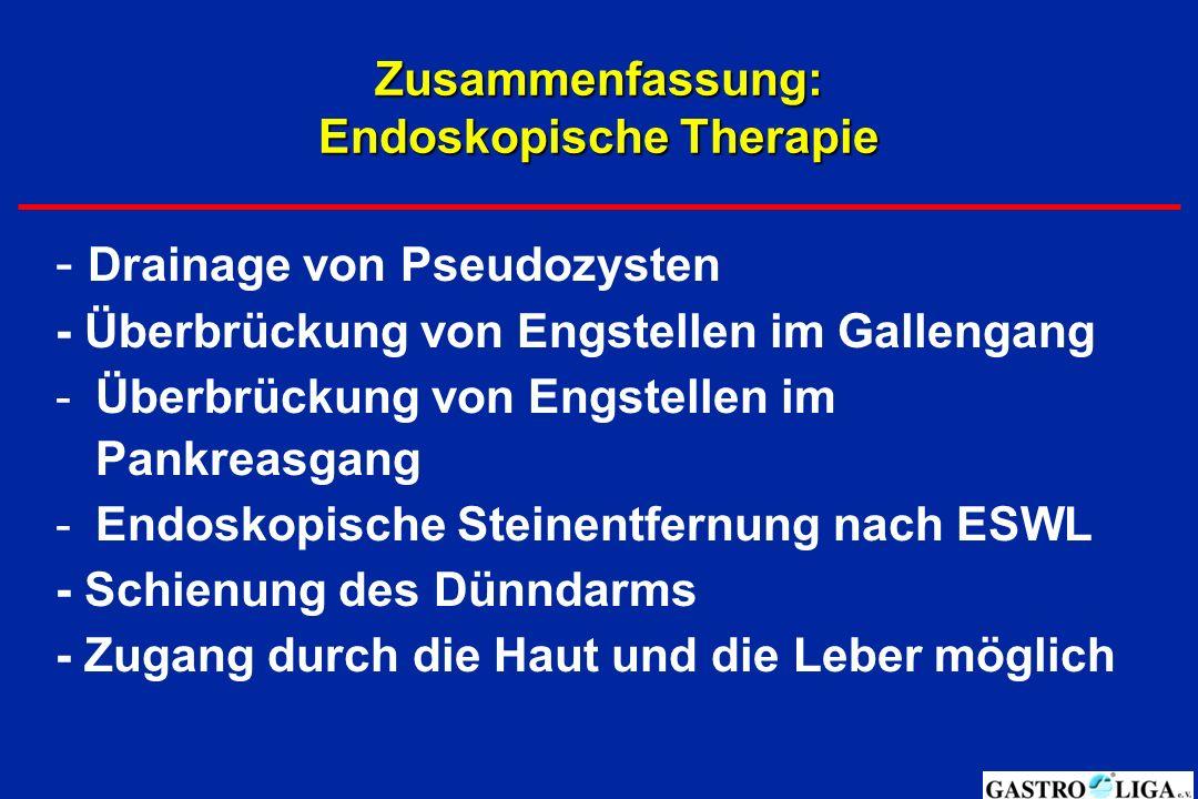 Zusammenfassung: Endoskopische Therapie