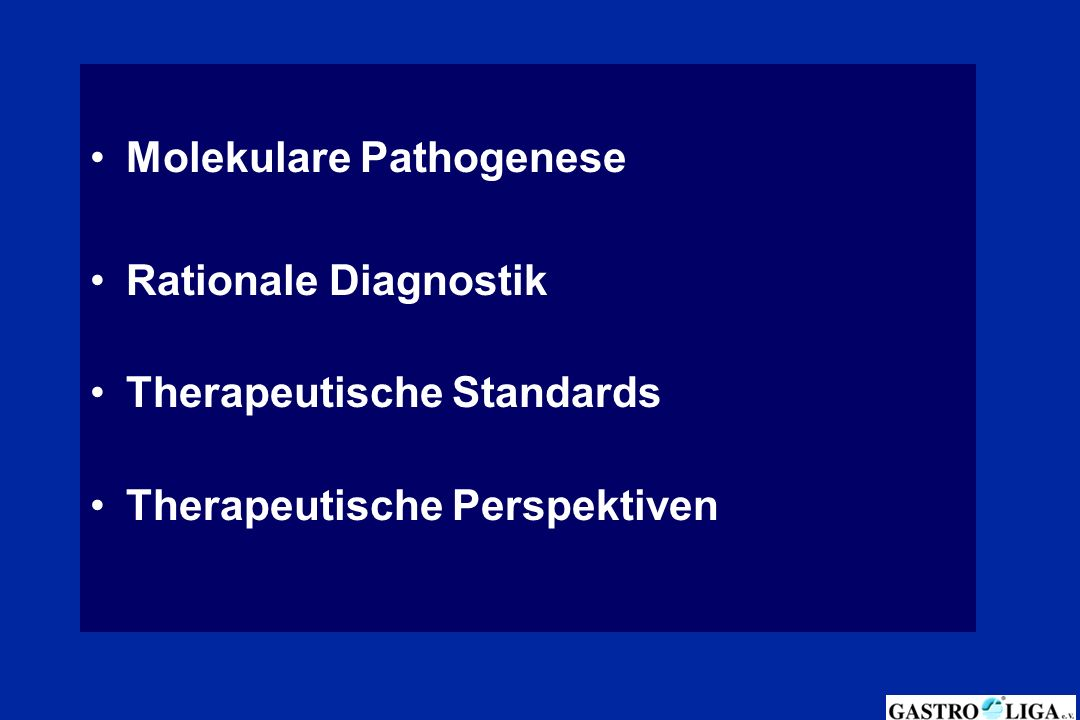Molekulare Pathogenese Rationale Diagnostik Therapeutische Standards