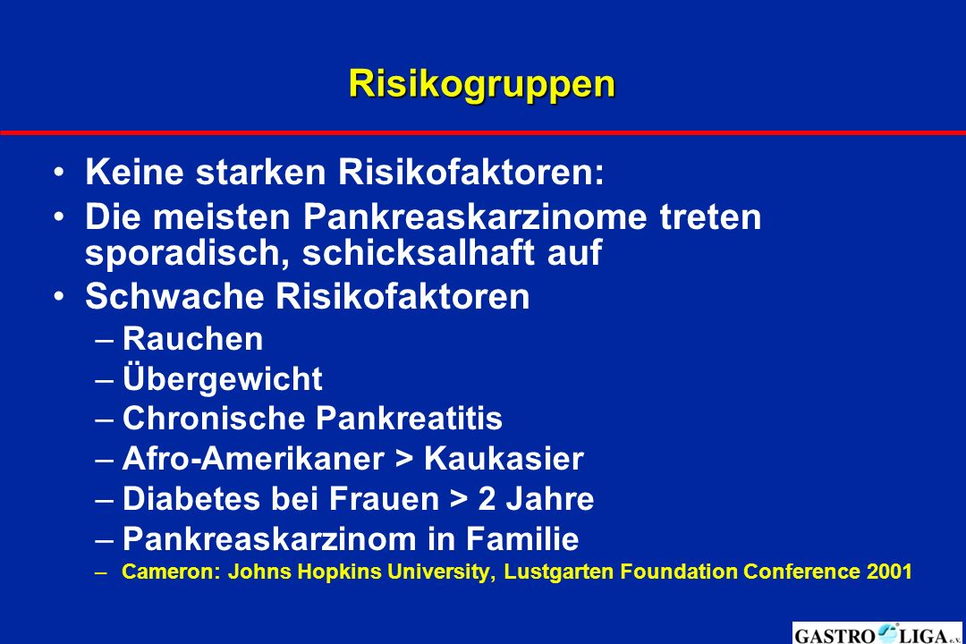 Risikogruppen Keine starken Risikofaktoren: