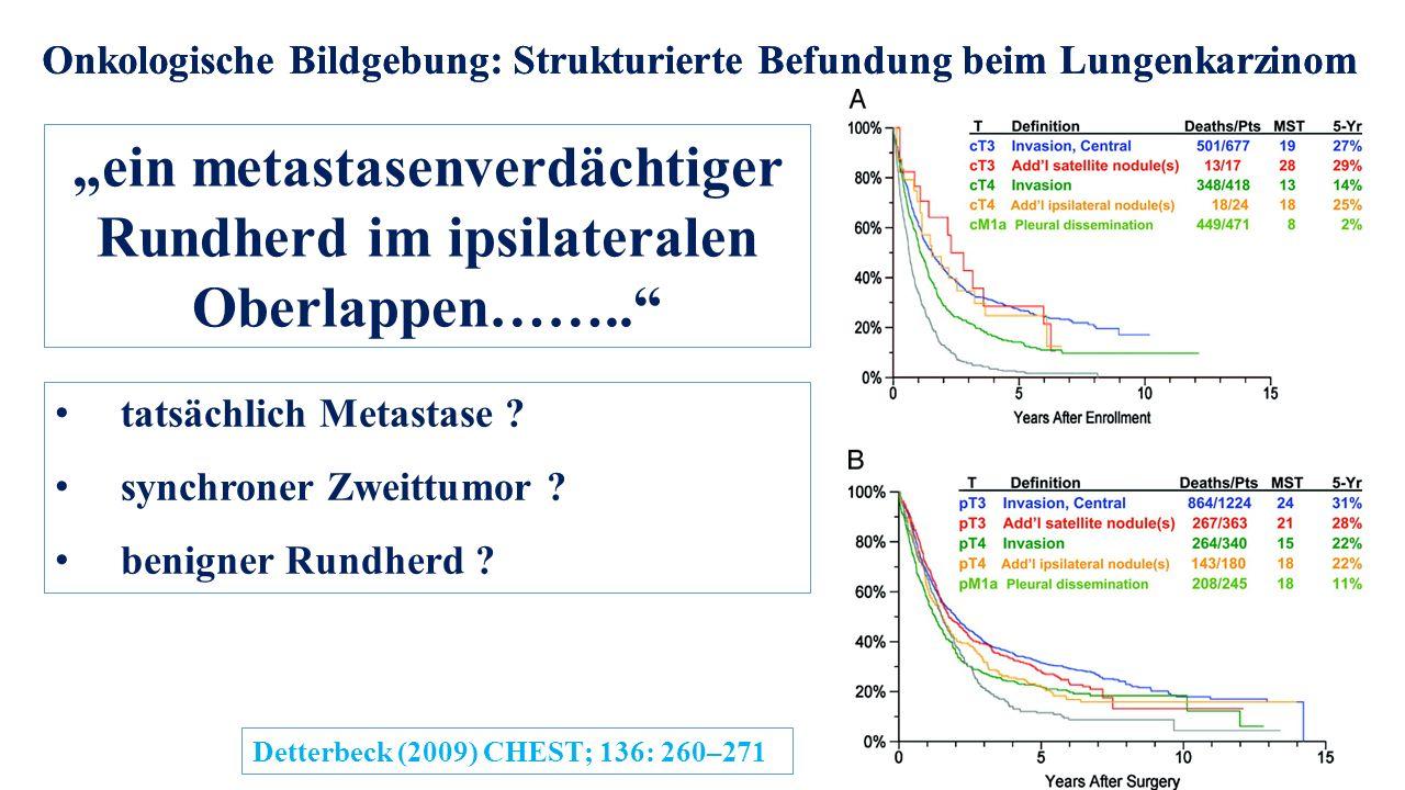"""""""ein metastasenverdächtiger Rundherd im ipsilateralen Oberlappen…….."""