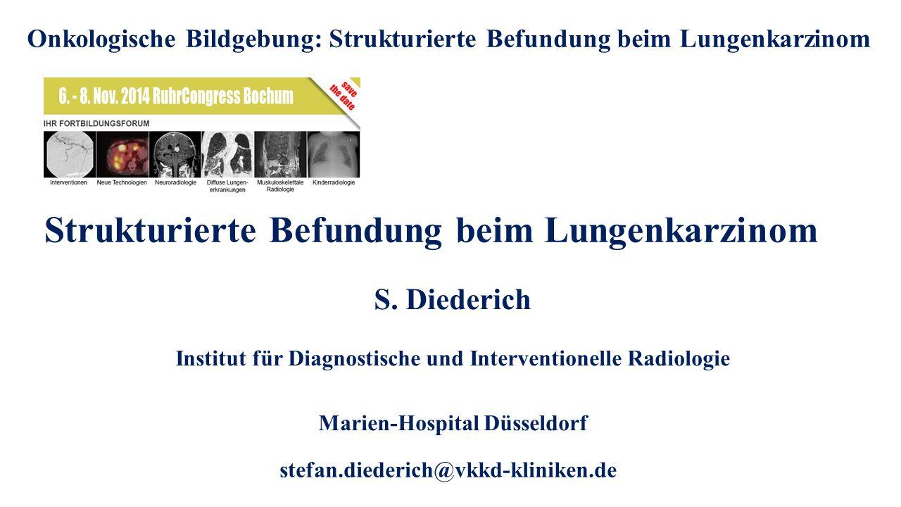 Strukturierte Befundung beim Lungenkarzinom