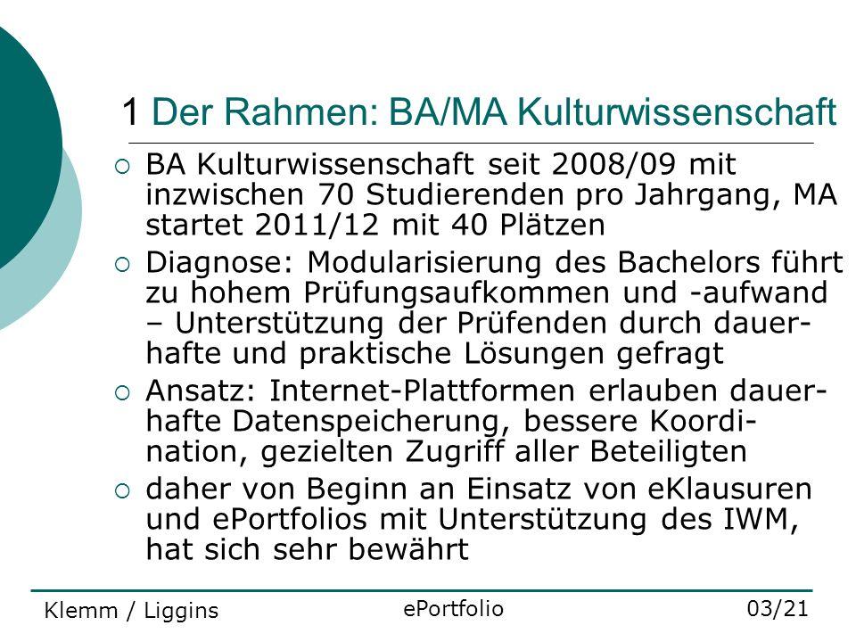 1 Der Rahmen: BA/MA Kulturwissenschaft