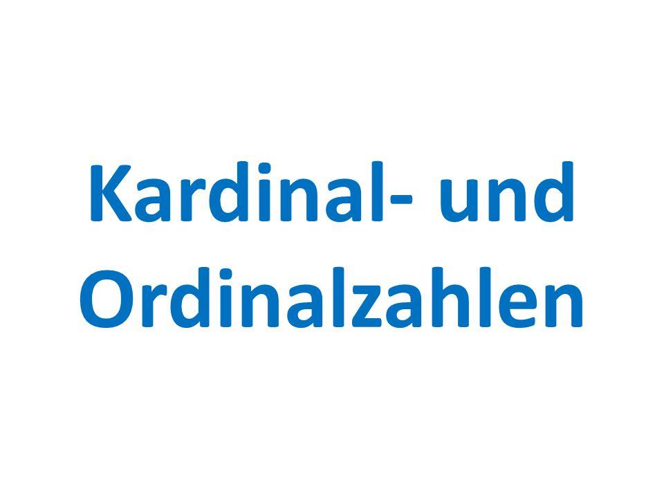 Kardinal- und Ordinalzahlen