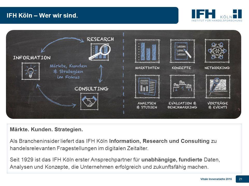 IFH Köln – Wer wir sind. Märkte. Kunden. Strategien.