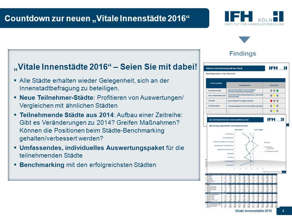 """Countdown zur neuen """"Vitale Innenstädte 2016"""