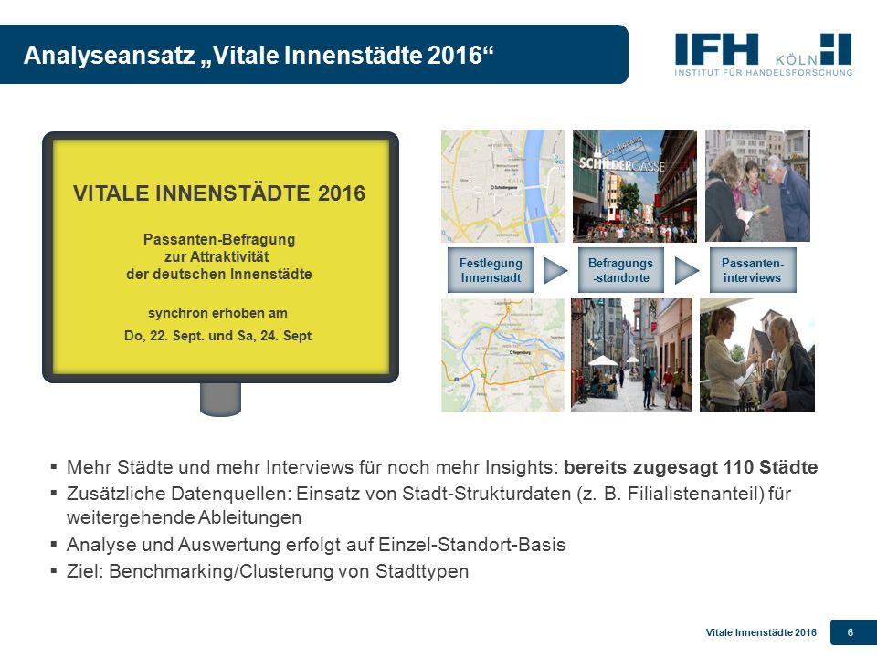 """Analyseansatz """"Vitale Innenstädte 2016"""