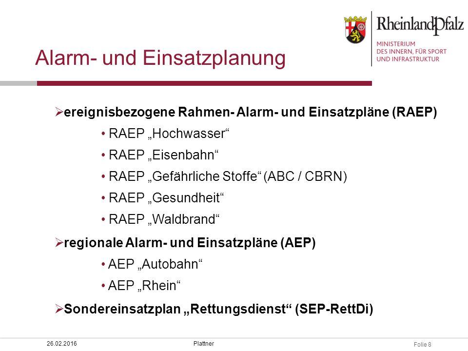 Alarm- und Einsatzplanung