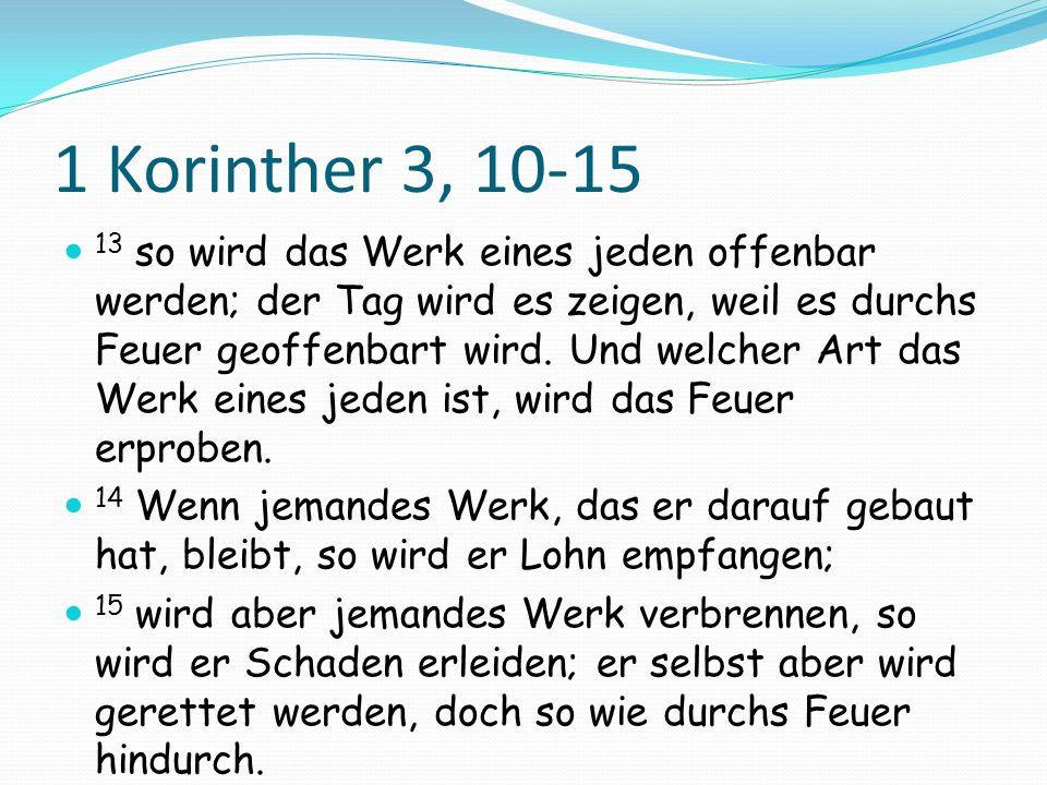 1 Korinther 3, 10-15