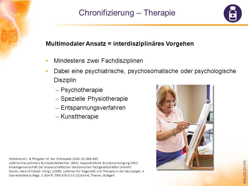 Chronifizierung – Therapie