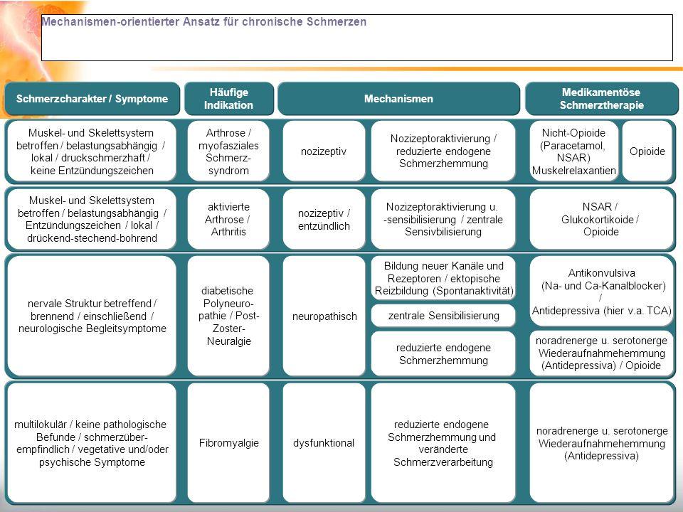 Mechanismen-orientierter Ansatz für chronische Schmerzen