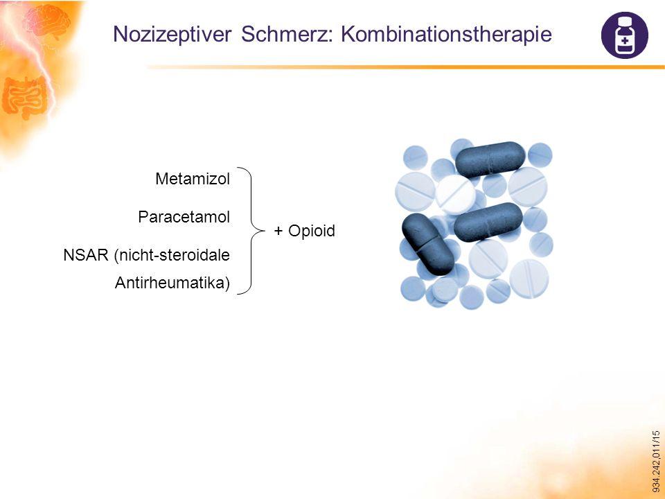 Nozizeptiver Schmerz: Kombinationstherapie