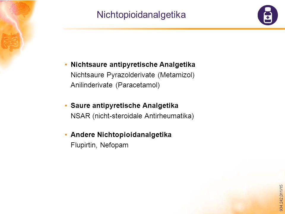 Nichtopioidanalgetika