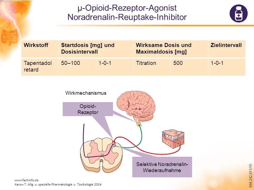 µ-Opioid-Rezeptor-Agonist Noradrenalin-Reuptake-Inhibitor