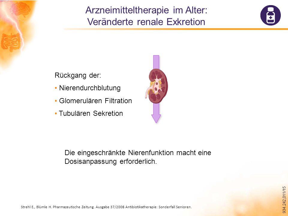 Arzneimitteltherapie im Alter: Veränderte renale Exkretion