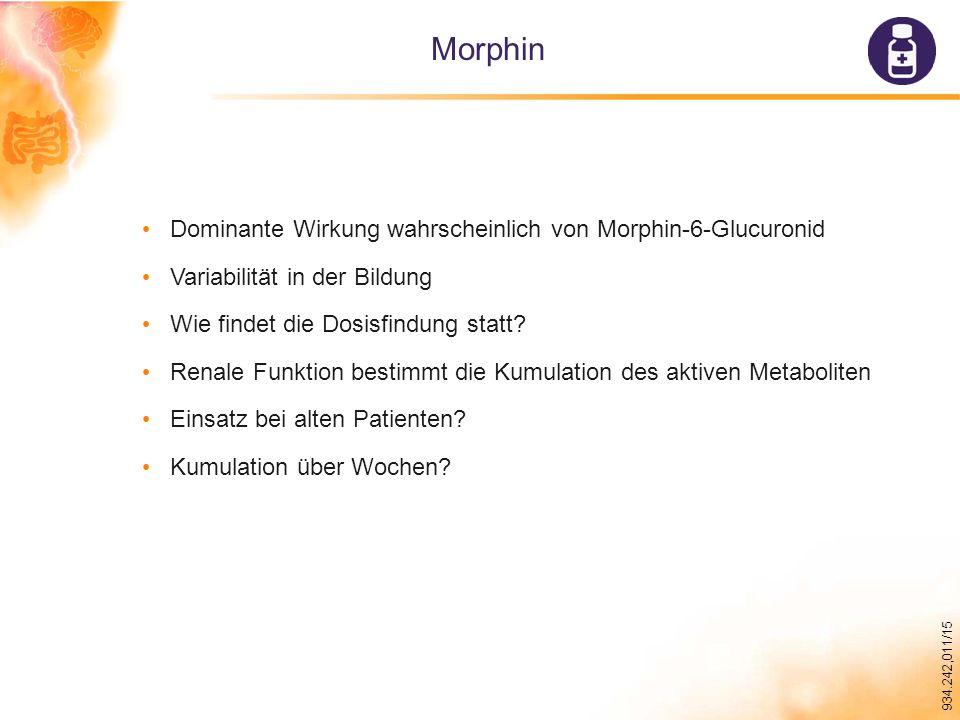 Morphin Dominante Wirkung wahrscheinlich von Morphin-6-Glucuronid