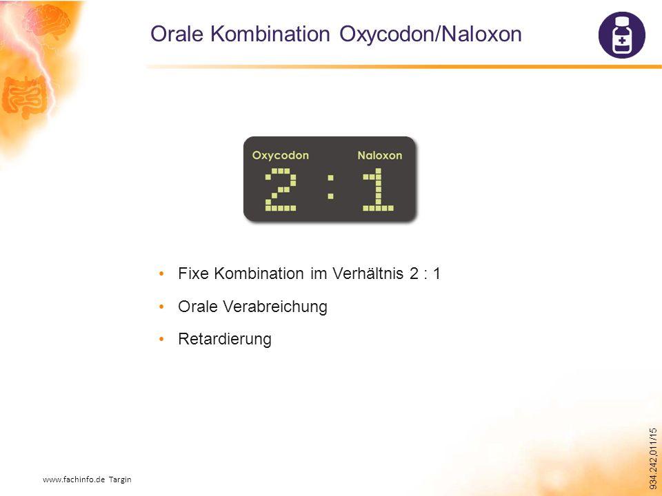 Orale Kombination Oxycodon/Naloxon