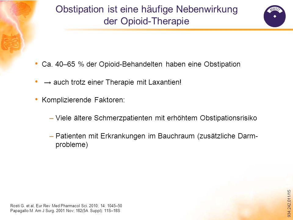 Obstipation ist eine häufige Nebenwirkung der Opioid-Therapie