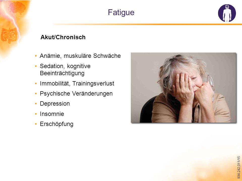 Fatigue Akut/Chronisch Anämie, muskuläre Schwäche