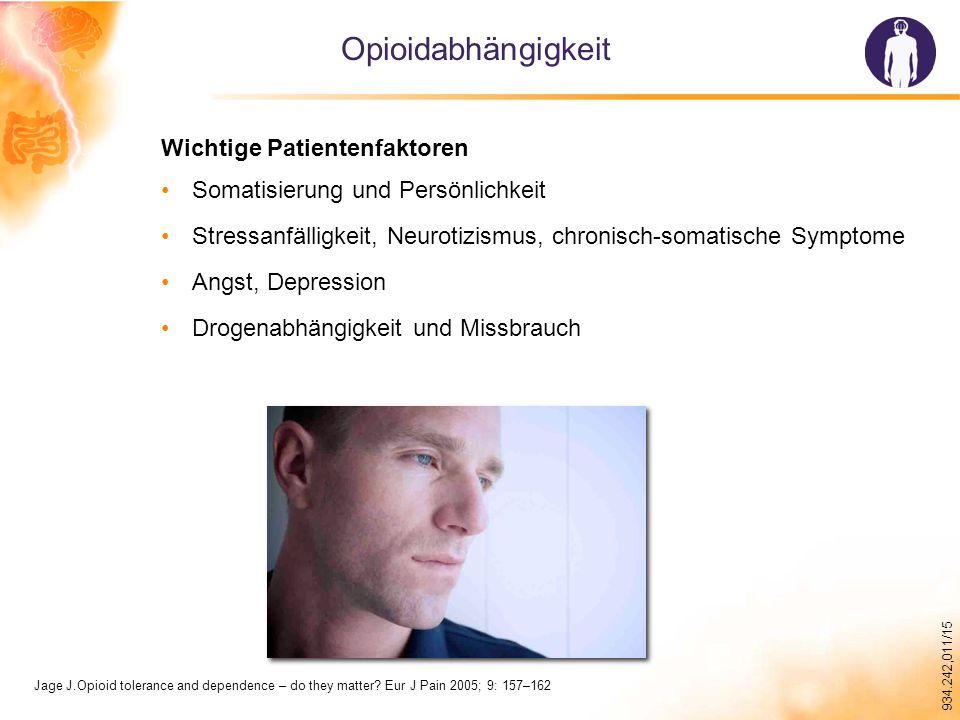 Opioidabhängigkeit Wichtige Patientenfaktoren