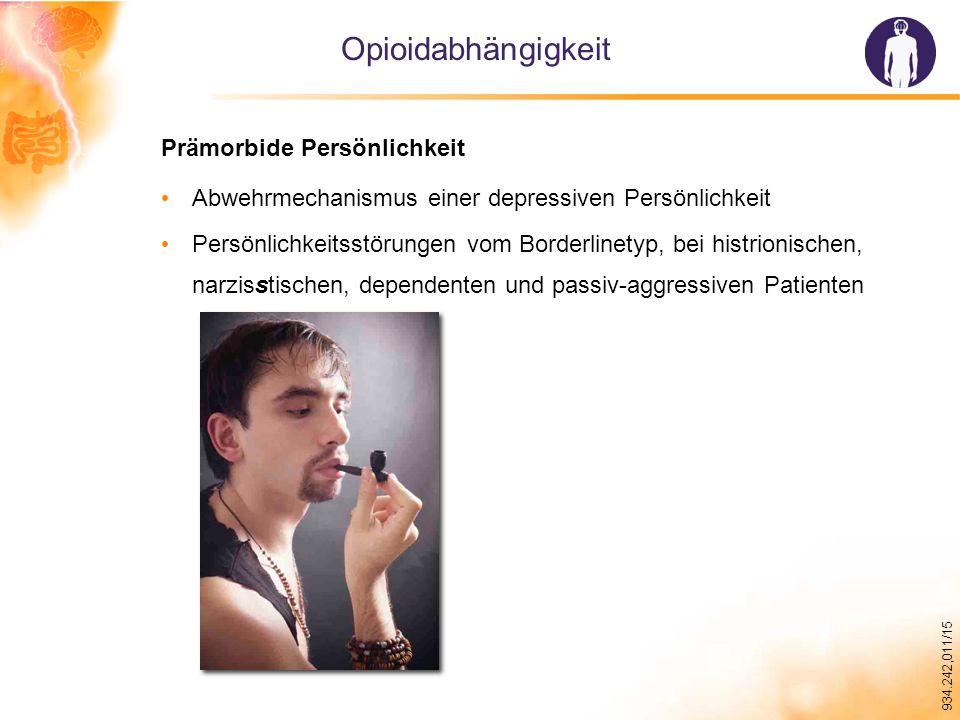 Opioidabhängigkeit Prämorbide Persönlichkeit