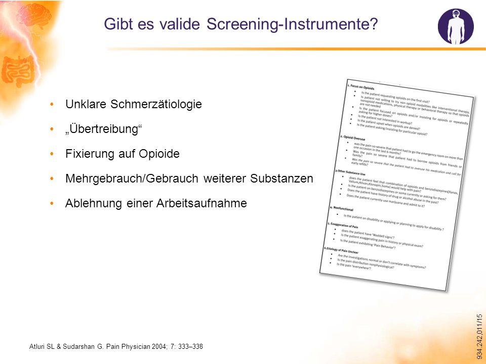 Gibt es valide Screening-Instrumente
