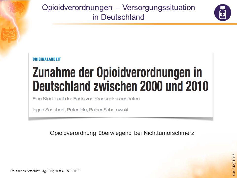 Opioidverordnungen – Versorgungssituation in Deutschland