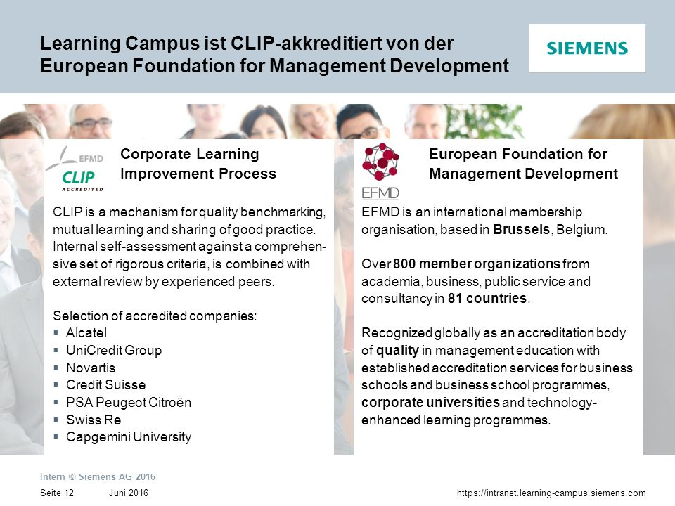 Learning Campus ist CLIP-akkreditiert von der European Foundation for Management Development