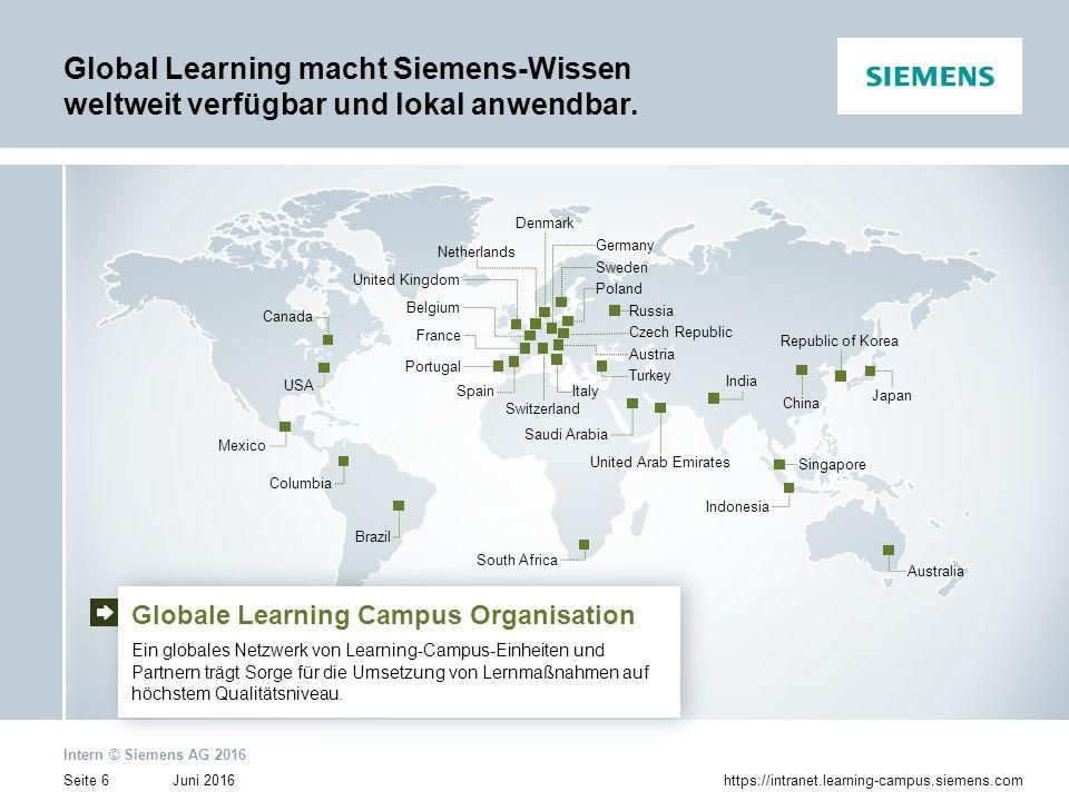 Global Learning macht Siemens-Wissen weltweit verfügbar und lokal anwendbar.