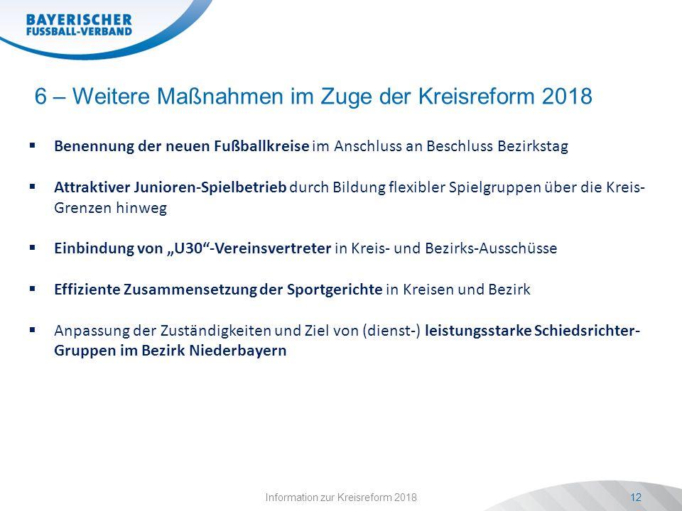 6 – Weitere Maßnahmen im Zuge der Kreisreform 2018