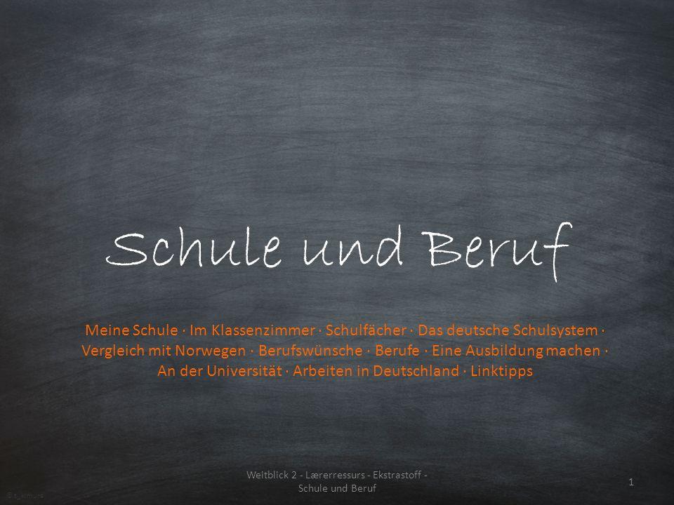 Weitblick 2 - Lærerressurs - Ekstrastoff - Schule und Beruf