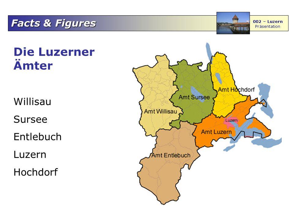 Die Luzerner Ämter Willisau Sursee Entlebuch Luzern Hochdorf