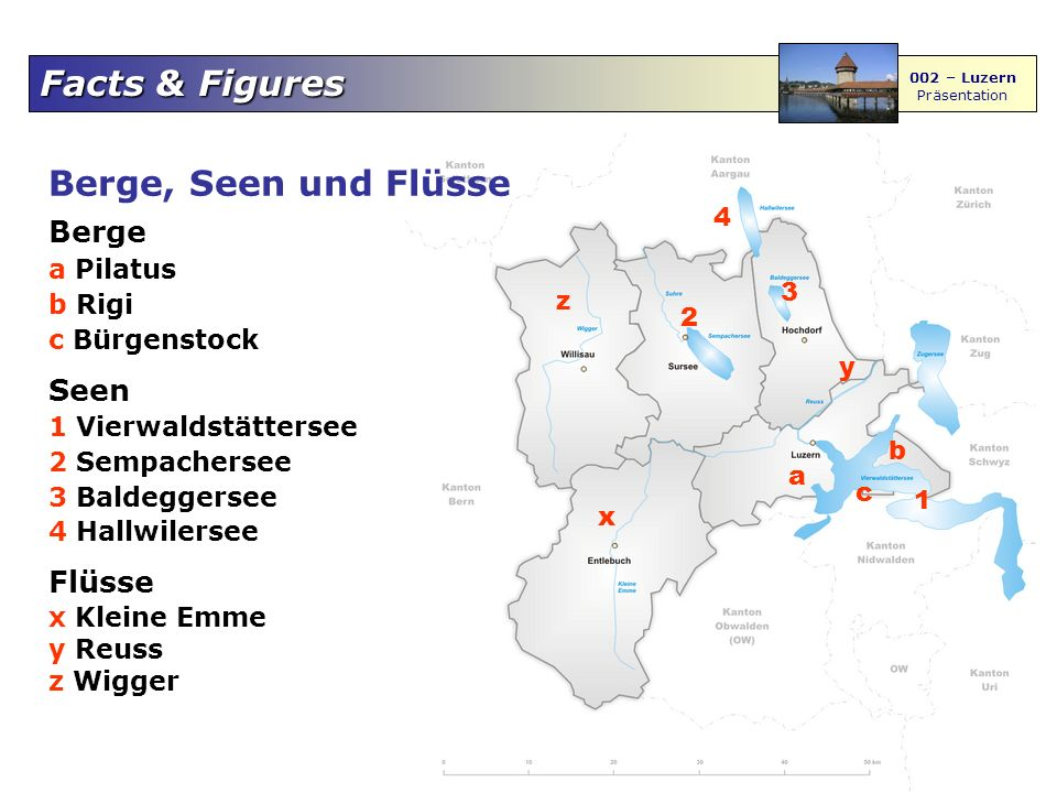 Berge, Seen und Flüsse Berge Seen Flüsse a Pilatus 4 b Rigi