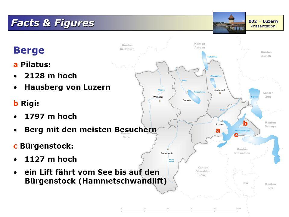 Berge a Pilatus: 2128 m hoch Hausberg von Luzern b Rigi: 1797 m hoch