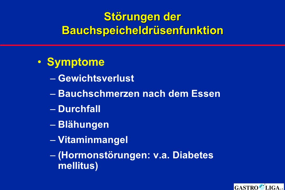 Störungen der Bauchspeicheldrüsenfunktion