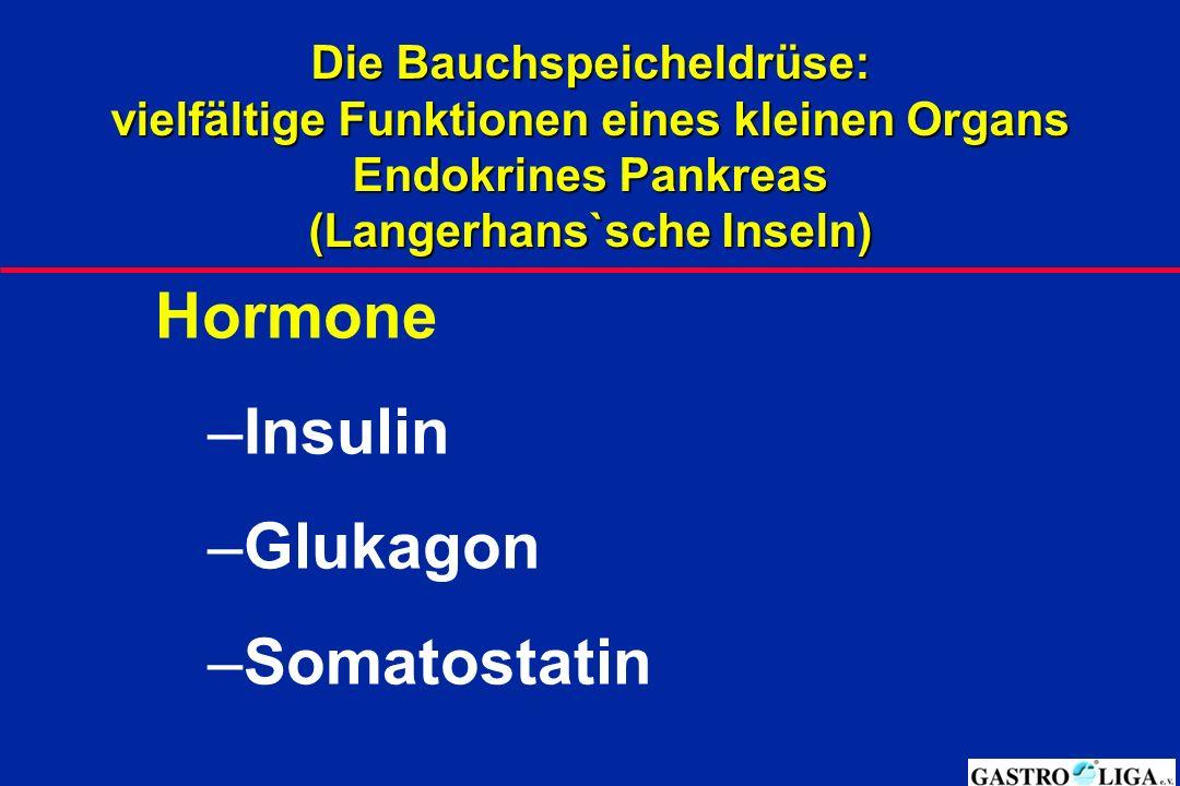 Hormone Insulin Glukagon Somatostatin