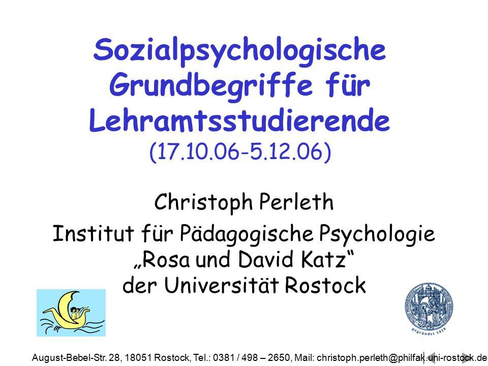Sozialpsychologische Grundbegriffe für Lehramtsstudierende (17. 10