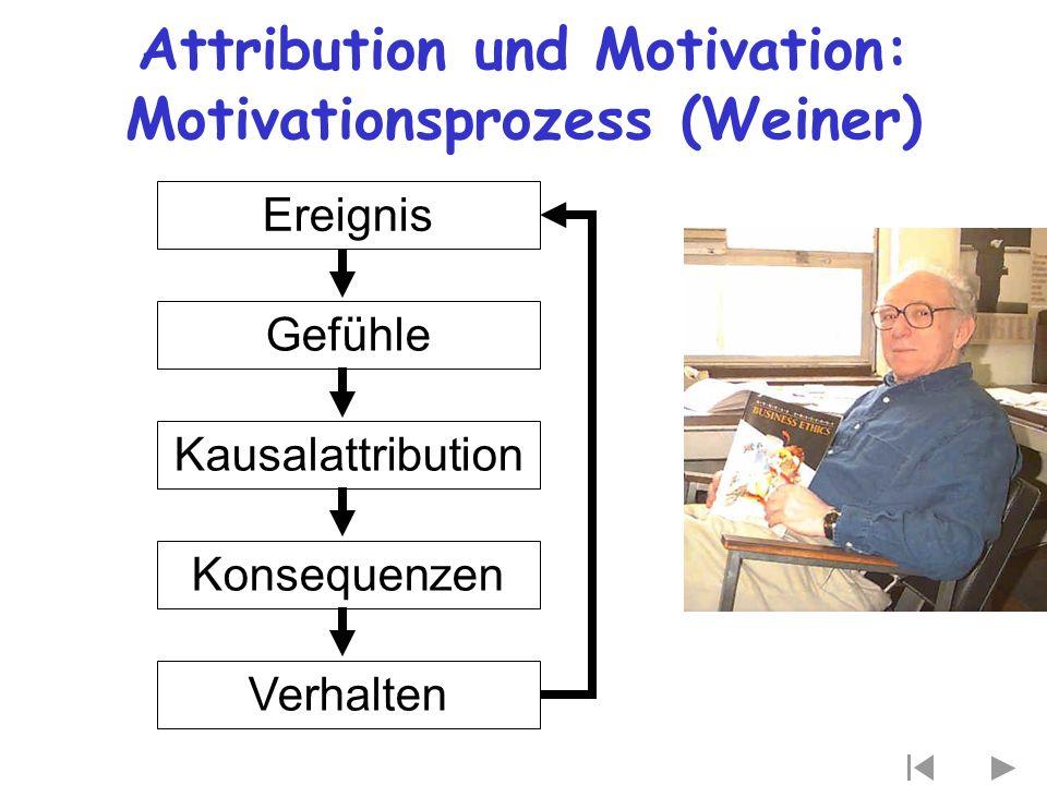 Attribution und Motivation: Motivationsprozess (Weiner)