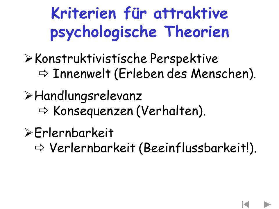 Kriterien für attraktive psychologische Theorien