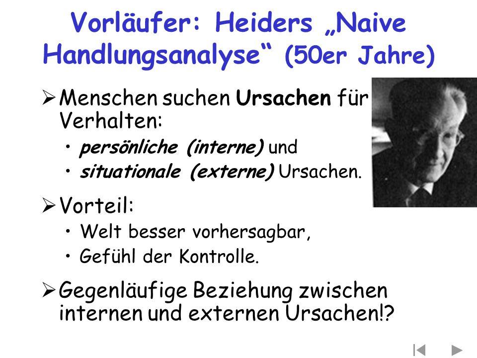 """Vorläufer: Heiders """"Naive Handlungsanalyse (50er Jahre)"""