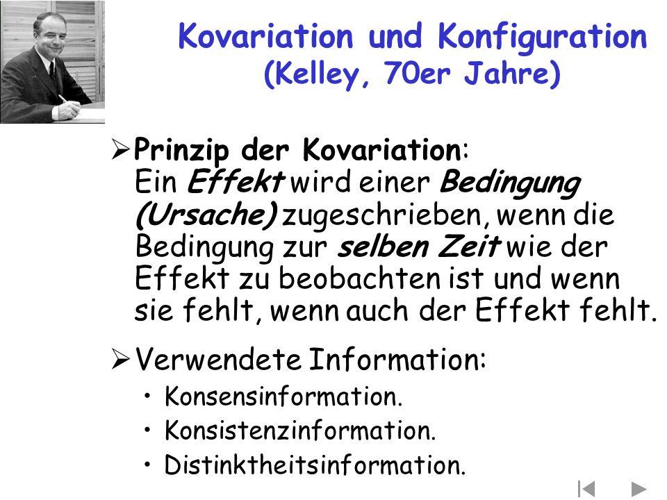 Kovariation und Konfiguration (Kelley, 70er Jahre)