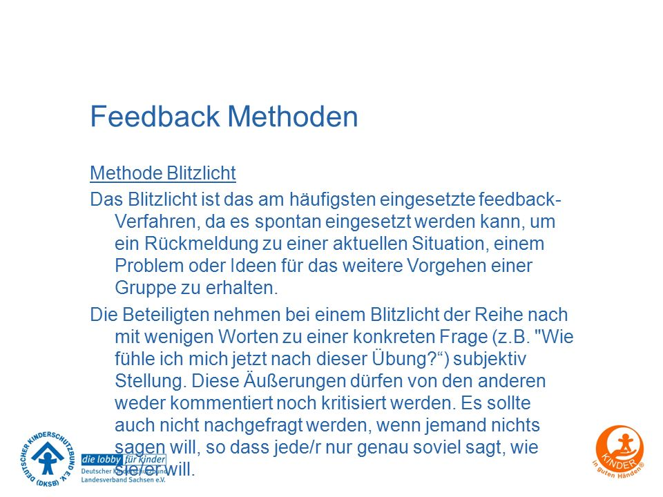 Feedback Methoden
