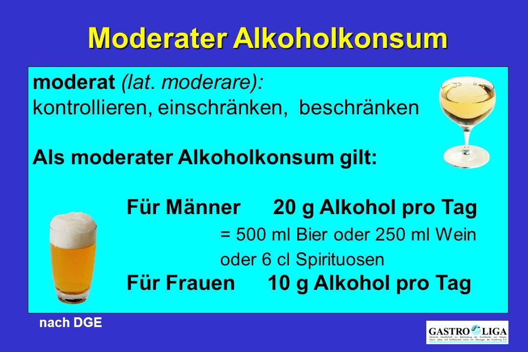 Moderater Alkoholkonsum
