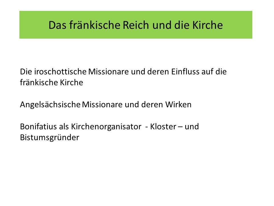 Das fränkische Reich und die Kirche