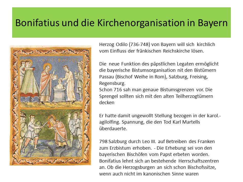 Bonifatius und die Kirchenorganisation in Bayern