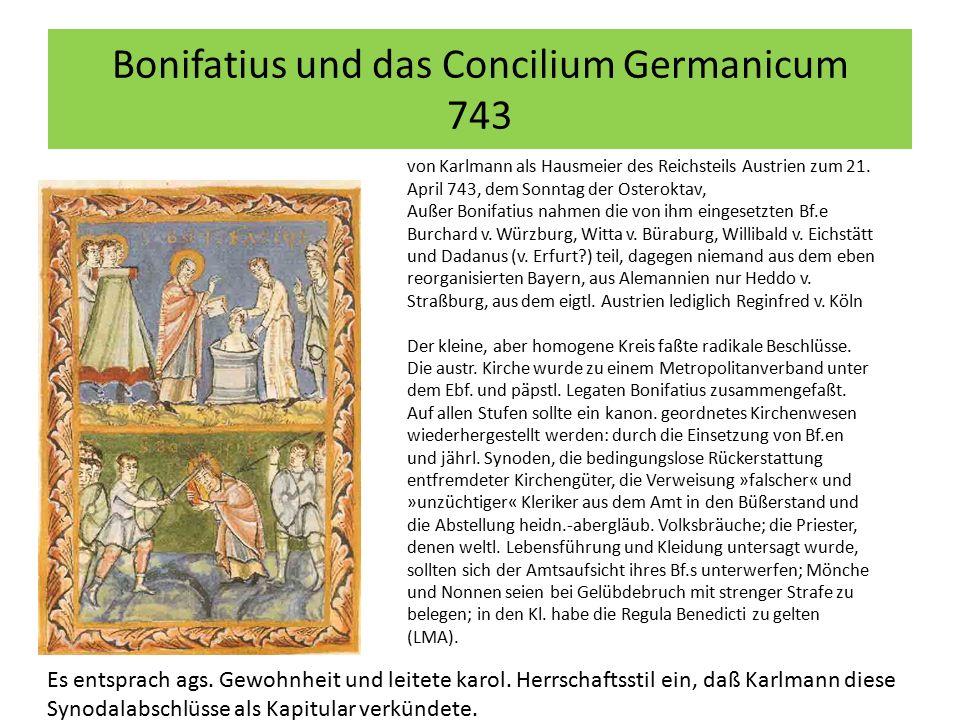 Bonifatius und das Concilium Germanicum 743