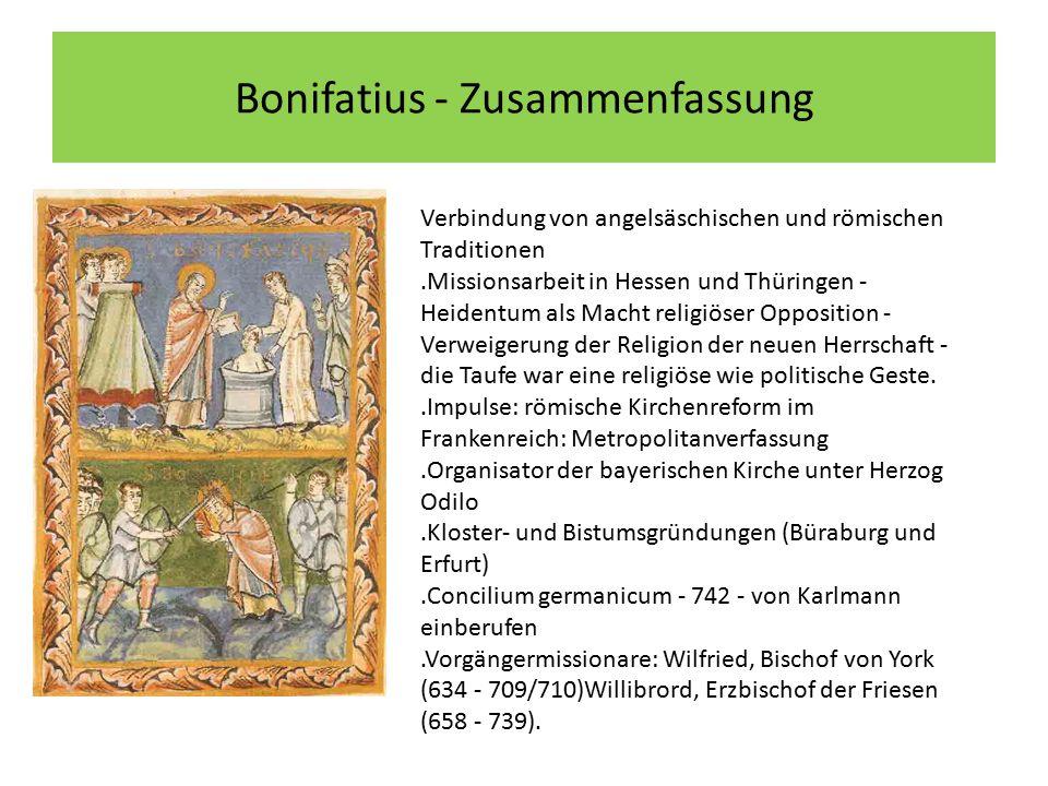 Bonifatius - Zusammenfassung