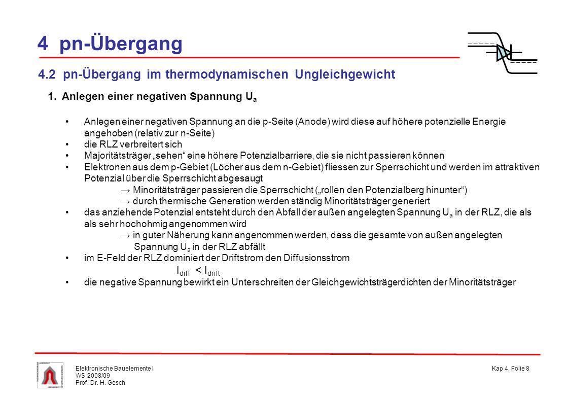 4 pn-Übergang 4.2 pn-Übergang im thermodynamischen Ungleichgewicht