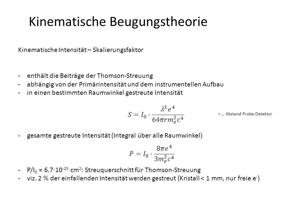 Kinematische Beugungstheorie