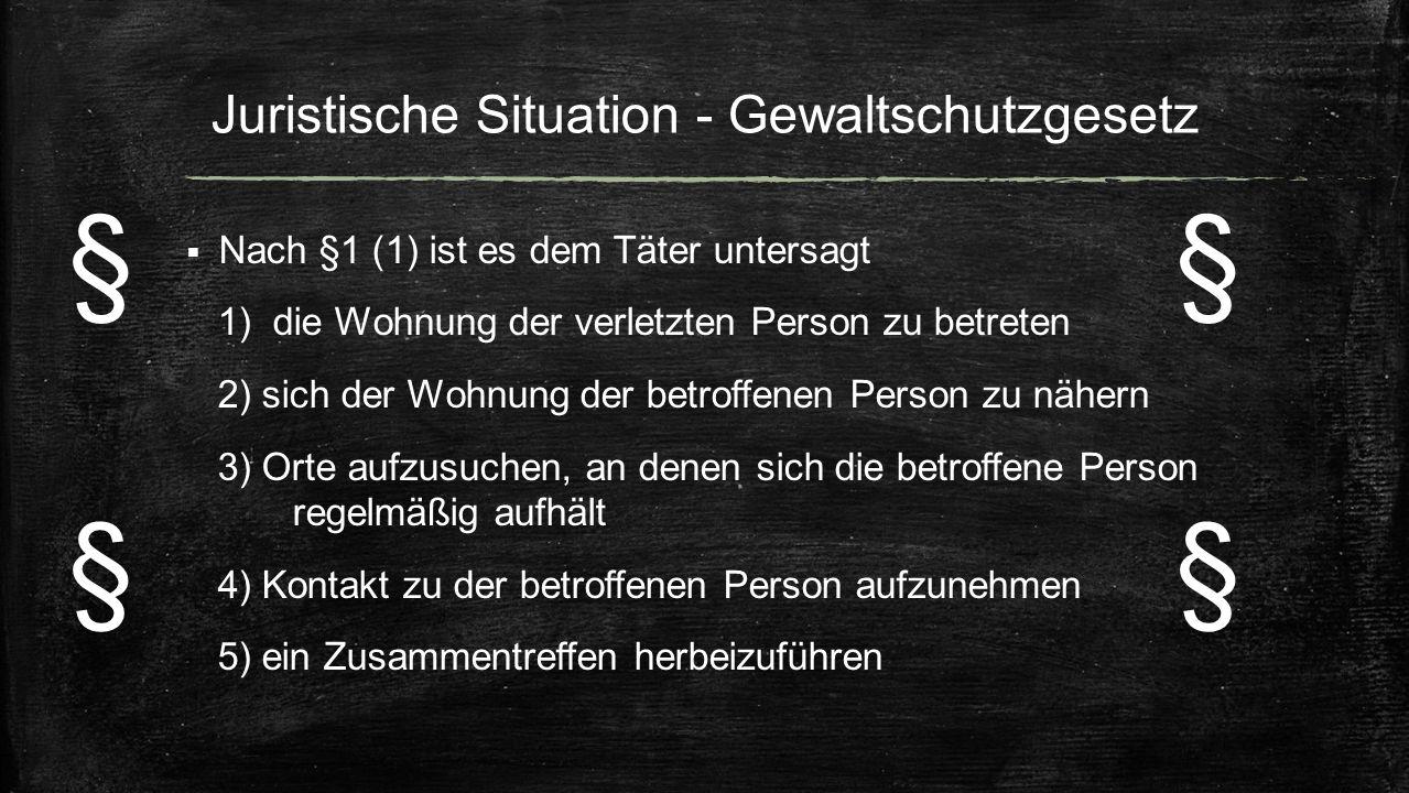 Juristische Situation - Gewaltschutzgesetz