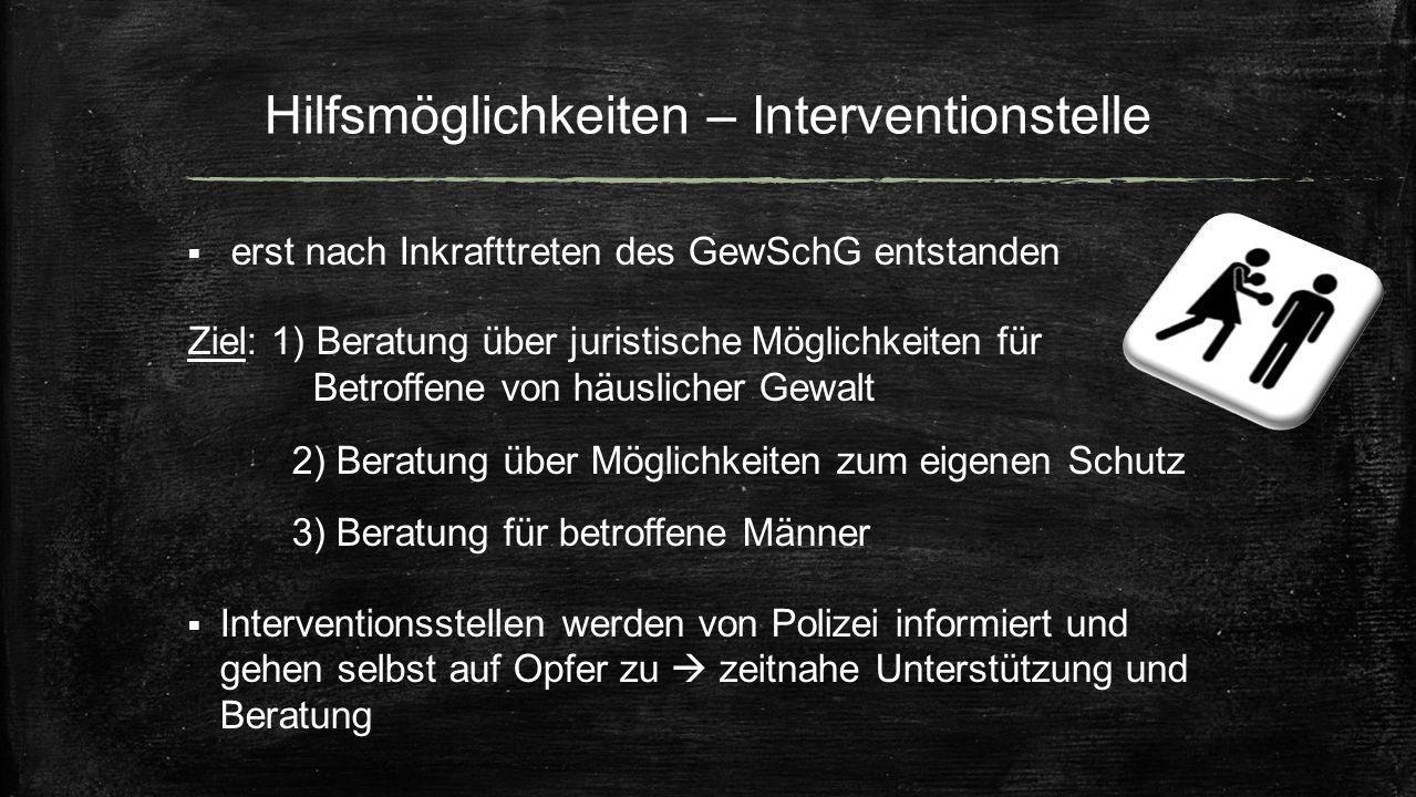 Hilfsmöglichkeiten – Interventionstelle